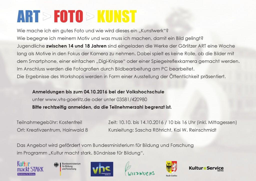 ART FOTO KUNST / INFO / Reinschmidt /Röhricht