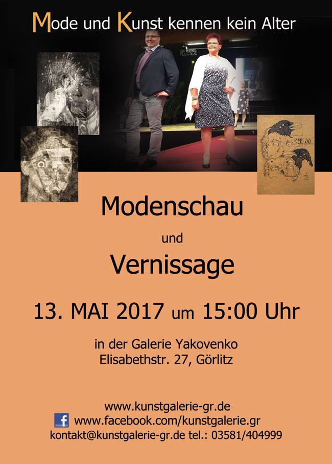 Modenschau/Vernissage
