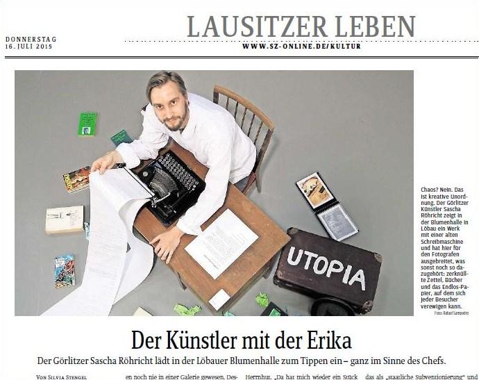 Sächsische Zeitung vom 16.07.2015
